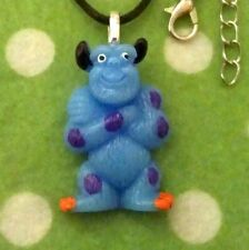 Sulley Necklace Monsters Inc Inspired Retro Jewellery, Fun Kawaii Blue Monster