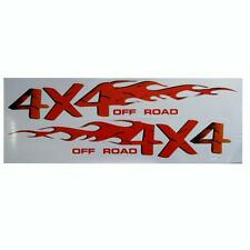 2pc 4x4 Off Road Auto adhesivo coche insignias Calcomanías Gráficos Color panel de carrocería