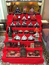 Japanese Hina-dolls set  Set of tools and dolls! mint condition! japan doll