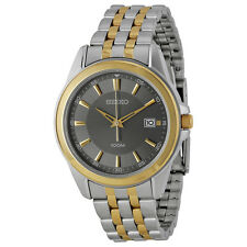 Seiko Grey Dial Two-tone Mens Watch SGEG90