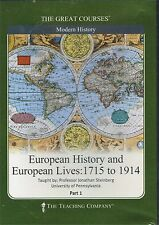 Great Courses EUROPEAN HISTORY, EUROPEAN LIVES 6 DVD's 36 lectures W/OUT BOOK