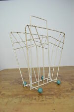 VINTAGE 1950's METAL ATOMIC DESIGN ENGLISH MADE MAGAZINE RACK