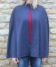 Vintage 20s 30s? Navy Red Silk Lined Nurses Cape Beautiful!