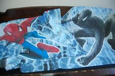 Spiderman Pillowcases Black Red Set of Two  Blue Background Vintage MARVEL COMIC