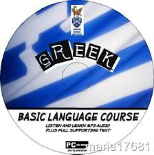 LEARN TO SPEAK GREEK PC CD LANGUAGE COURSE EASY BEGINNER PROGRAM MP3 +TEXT NEW