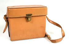 CAMERA CASE HARD LEATHER VINTAGE (5.5x6x2.5 INCHES) FOR REVERE VIDEO CAMERA