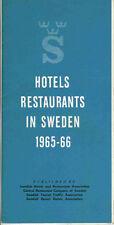 Vintage 1965 Sweden Travel Brochure - Hotels Restaurants in Sweden