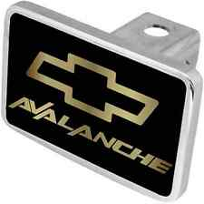New Chevrolet Avalanche Gold Word/Gold Logo Hitch Cover Plug