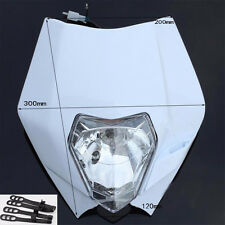 White Streetfighter Street fighter Motorcycle Dirt Bike Headlight Light Lamp