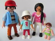 Playmobil dollshouse family figures: maman, papa, girl & baby neuf
