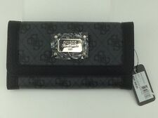 Women's GUESS Brand Black Gray CHEAT'IN HEART Trifold Wallet - $40 MSRP