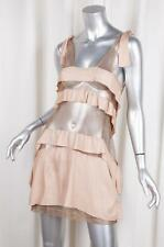 TOGA ARCHIVES Womens $795 Beige Knit Sheer Mesh Sleeveless Dress 1/S NEW NWT