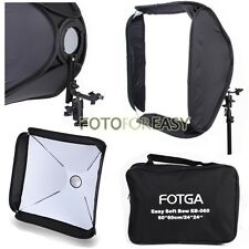 "FOTGA Softbox For SpeedLight Flash Speedlite Soft box Kit 60x60cm 24""x24"" White"