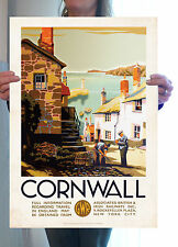Vintage travel poster-Cornwall homard pot-A2