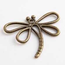 45Pcs Bronze Plated Dragonfly Charms 31X29mm (Lead-free)