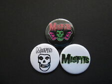 "MISFITS  - X3 -1""  Button Badges  -FREE UK POSTAGE-"