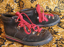 VTG 80s WOMENS OZARK TRAIL BLACK HIPPIE LEATHER MOUNTAIN HIKING BOOTS SIZE 5