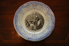 EXCEPTIONAL CREIL MONTEREAU THE PLEASURES OF HOUSEHOLD WALL OR CABINET PLATE #2