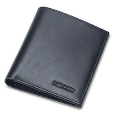 HISCOW Men Thin Bifold Wallet Italian Genuine Leather with 6 Credit Card Holder