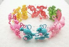 12Pair Woman Girls kids Hair Rope Ponytail Elastic Holder Band Tie - Suger Candy
