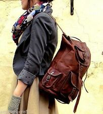 New Genuine Leather Back Pack Rucksack Travel Bag For Men's and Women's.