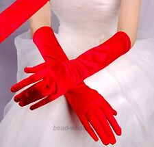 Fashion Satin Long Gloves Opera Wedding Bridal Evening Party Costume Gloves Lady