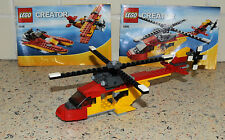 Lego 5866 - Creator :Rotor Rescue - 100% Complete Helicopter, Speedboat & Plane