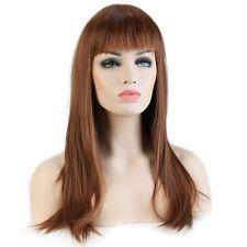 2016 Women Full Hair Wig Long Straight Wavy Cosplay Dress Wig Brown Blonde Black
