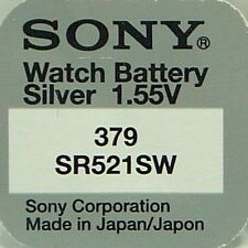 Sony Watch Batteries x1 Cell Silver-Oxide 1.55v-379 SR521SW S56 618 AG0 SR63 0%
