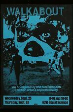 1970's WALKABOUT Nicholas Roeg Jenny Agutter Wisconson College Movie Poster