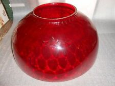 "14"" Cranberry Ruby Red Glass Hanging Lamp Shade"