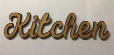 Wooden Kitchen sign Mdf Standing word  6 Mm Thick Blank Laser Cut Letters