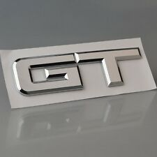 Chrome 3D GT Symbol Car ABS Rear Emblem Stickers for Ford Mustang Shelby GT 5.0