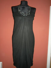ALL SAINTS SPITALFIELDS BLCK JERSEY DRESS, SIZE SMALL, BALLOON HEM