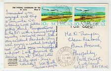 THE PITONS: St Lucia postcard sent to Scotland (C24268)