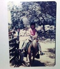 Vintage 70s Found PHOTO Cute Girl Riding Pony At Yosemite National Park