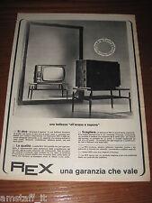 *120=REX TV TELEVISORE=ANNI '60=PUBBLICITA'=ADVERTISING=WERBUNG=PUBLICITE=
