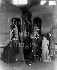 Boarding   New York Central Train 1903  In New York City Vintage photo print
