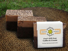 Homemade Goat's Milk Soap ~Coffee And Cream ~ Handmade Soap ~ Exfoliating Bar