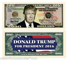 Donald Trump 2016 Presidential Collectors Dollar Bill/Banknote
