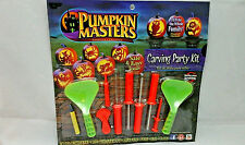 Halloween Pumpkin Masters Carving Party Kit 10 Piece Set 1 Pattern Book New