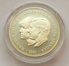 1981 GREAT BRITAIN SILVER 25 PENCE WEDDING OF PRINCE CHARLES & LADY DIANA COIN