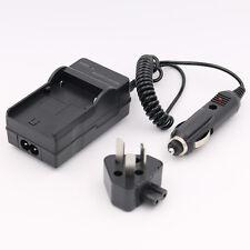 AC+DC Wall+Car Battery Charger For Sanyo DB-L20 DB-L20AU Xacti VPC-CA8 VPC-CA9