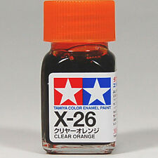 TAMIYA COLOR ENAMEL X-26 Clear Orange MODEL KIT PAINT 10ml NEW