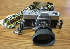 Vintage minolta srt 201 camera with Tiffen 49mm lens with case and extras
