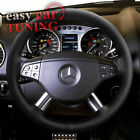 NEW MERCEDES-BENZ ML W164 BLACK REAL GENUINE 100% LEATHER STEERING WHEEL COVER