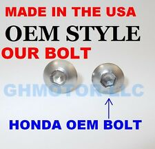 NEW 03 04  05 06 CBR600RR SILVER OEM COMPLETE FAIRING BOLTS FASTENERS KIT USA