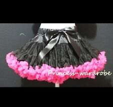 Pageant Black Hot Pink Pettiskirt Dance Party Dress For Girl Adult Women Lady