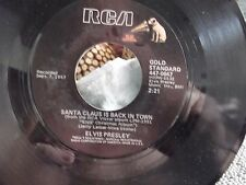 ELVIS PRESLEY ON RCA RECORDS BLUE CHRISTMAS / SANTA CLAUS IS BACK IN TOWN