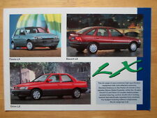 FORD Fiesta Escort Orion LX c1991 UK Mkt brochure with Special Edition models